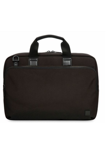 "knomo black Maxwell 15"" Slim Briefcase (Black) 1474FACF9FA55EGS_1"