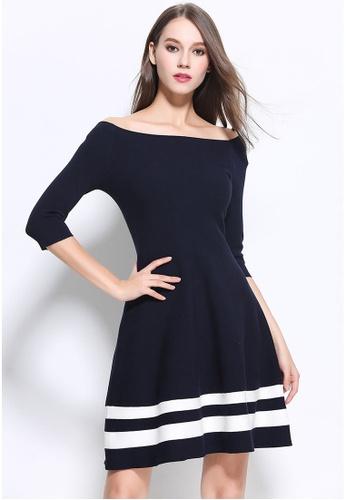 Buy Sunnydaysweety F W Black Simple Off Shoulder One Piece Dress A10278 Zalora Hk