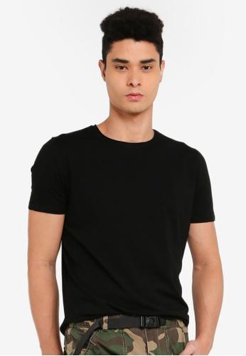SPARROW GREEN black Langley Scallop T-Shirt 5B5CCAADB23DB1GS_1