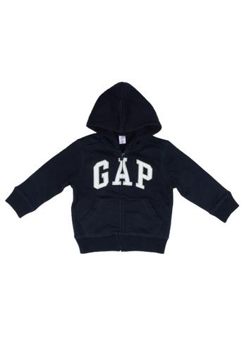 GAP blue V-Tb Ptf Bas Fz Logo Hoodie 21AA6KA23552DEGS_1