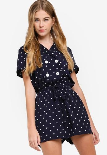 fb6884884565 Buy Something Borrowed Button Shirt Playsuit Online on ZALORA Singapore
