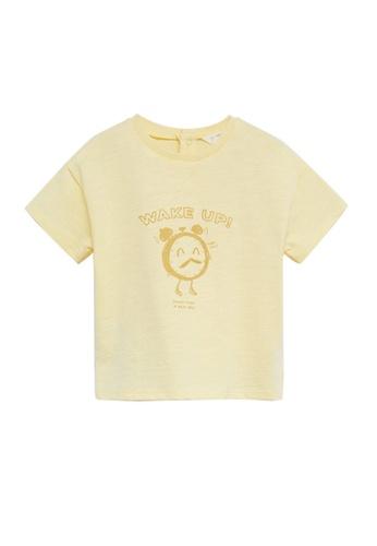 MANGO BABY yellow Organic Cotton T-Shirt CF18AKAA64E4F4GS_1