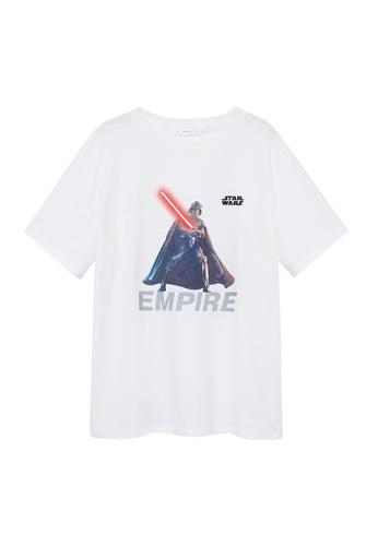 MANGO KIDS white Star Wars Cotton T-Shirt 84DB1KA2E667EBGS_1
