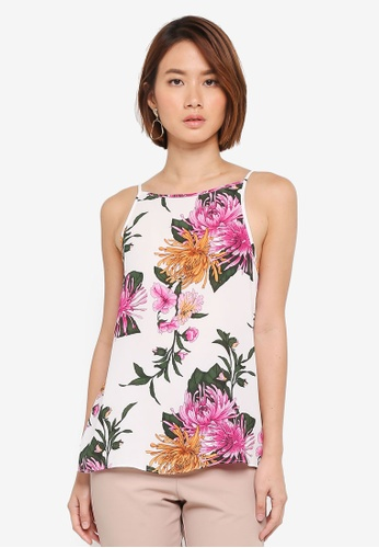WAREHOUSE white Floral Print Cami Top 22004AA72F35ADGS_1