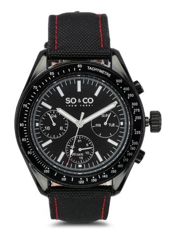 SO&CO black Monticello Watch 5027 SO540AC0SHM4MY_1