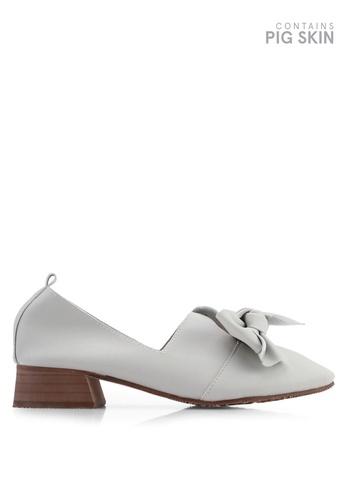 Twenty Eight Shoes 灰色 復古蝴蝶結樂福鞋 8B6C5SH7271F02GS_1