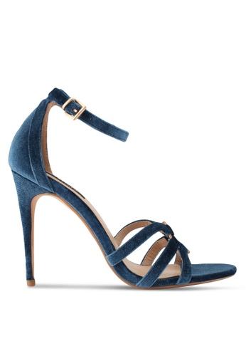 ZALORA blue Top Ringed Detail High Heels 1049ASHC03553EGS_1