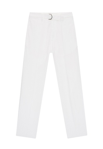 CERRUTI 1881 white STRAIGHT LEG JEANS 4E2ABAA0A0803DGS_1