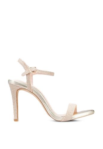 Nose 金色 Glitter High Heel Sandals B279ESHA6F2FAAGS_1