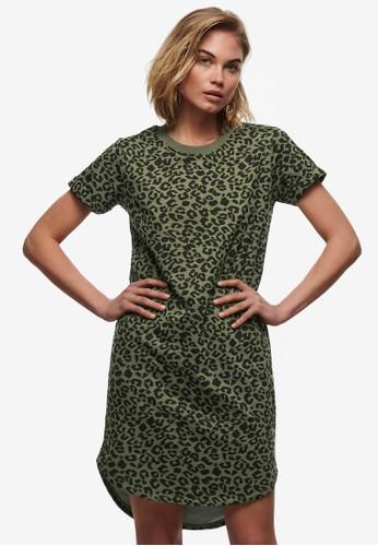 JACQUELINE DE YONG green Ivy Print Dress 93D75AA83FC9B0GS_1
