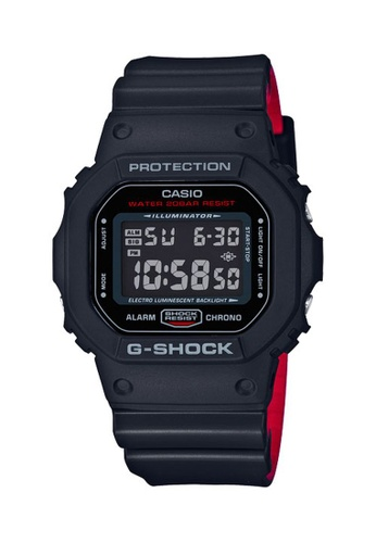 G-shock black and red CASIO G-SHOCK DW-5600HR-1 CB13CAC8DF07FBGS_1