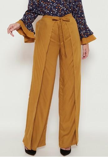 SUQMA yellow Nessa Pants 5C840AA7A89CCDGS_1