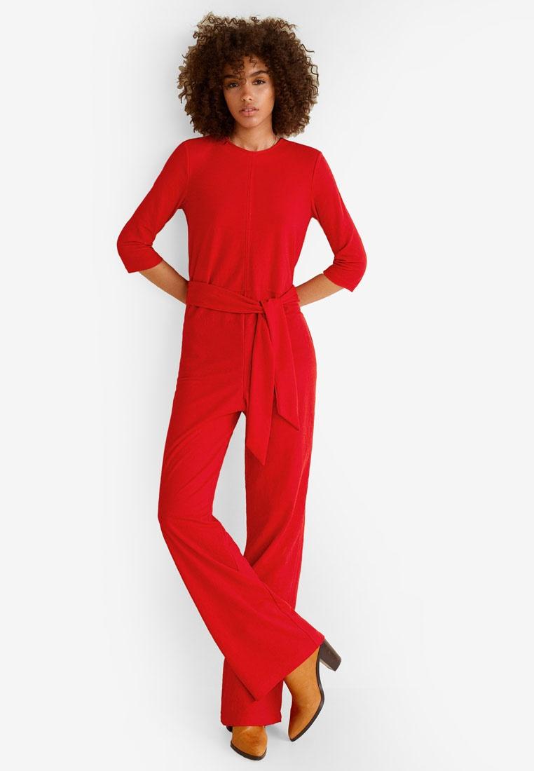 bb21d4587da77 Bow Mango Long Mango Jumpsuit Red Jumpsuit Red Mango Long Bow Bow 7dwq6Xq  ...