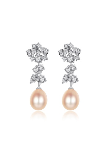 A.Excellence pink Premium Pink Pearl Elegant Earring F4605AC13F5137GS_1