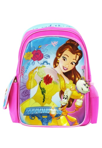 DISNEY Princess pink Disney Princess Belle BATB Pre-School Bag 9D253KCA0DEA33GS_1