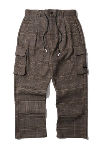 Fivecm brown Plaid cargo pants 600EFAA3BF79FAGS_1