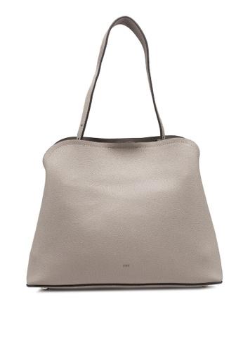 nose grey Pebbled Shoulder Bag 50041AC02697D2GS_1