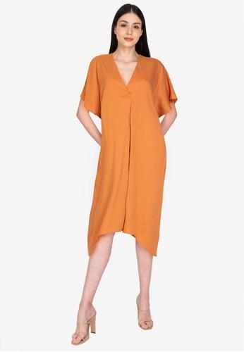 Origin by Zalora orange Kimono Dress made from TENCEL™ 428D6AA2131E06GS_1
