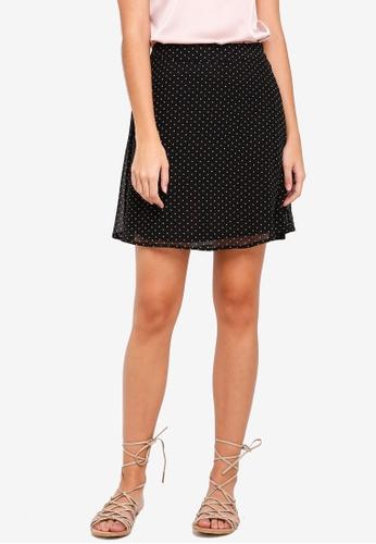 Pieces black Kura Mini Skirt 8A767AA2BF2E70GS_1
