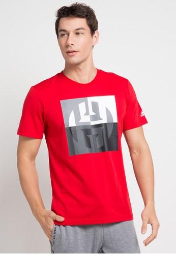 adidas red adidas harden logo tee 2CF36AA3C450FFGS_1