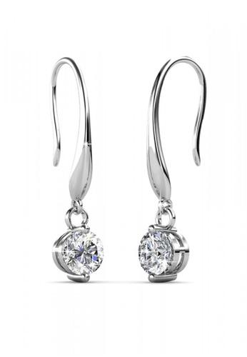 Her Jewellery silver Swarovski® Zirconia -Hook Earrings (18K White Gold Plated) Her Jewellery HE581AC0RDPRMY_1