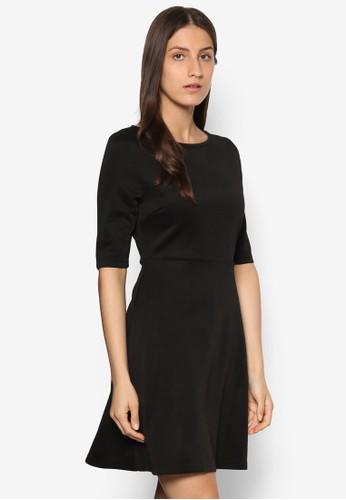 Essential 簡約七分袖傘擺洋裝、 服飾、 正式洋裝ZALORAEssential簡約七分袖傘擺洋裝最新折價