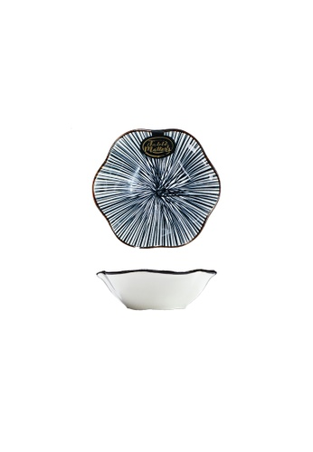 Table Matters multi Blue Illusion - Flower Shaped Saucer 854F4HLC4BFF15GS_1