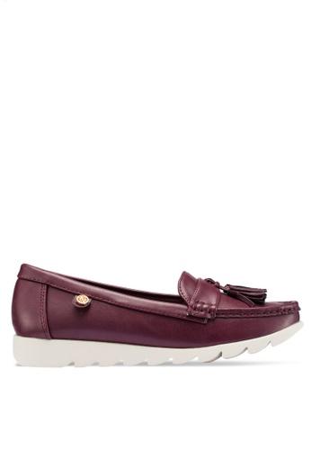Carlton London 紅色 流蘇樂福鞋 3040ASHE23836CGS_1