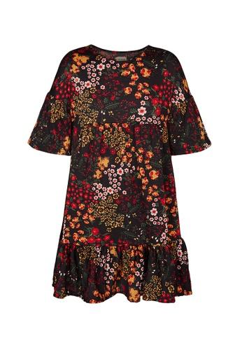 Gen Woo black Floral Smock Dress By Gen Woo 69B0CKA9C5B52BGS_1