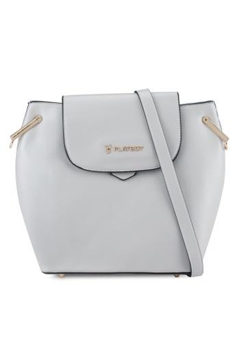 PLAYBOY BUNNY grey Playboy Bunny Ladies Sling Bag PL604AC0SYM7MY_1