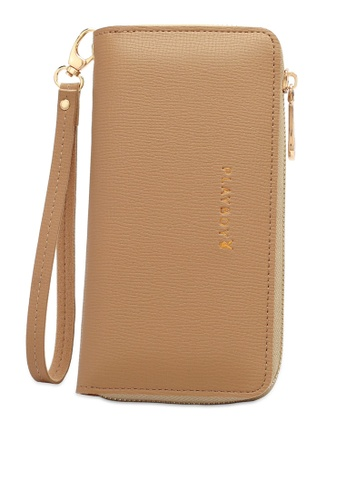 PLAYBOY BUNNY beige Women's Long Zipper Purse B8400AC25A5B93GS_1