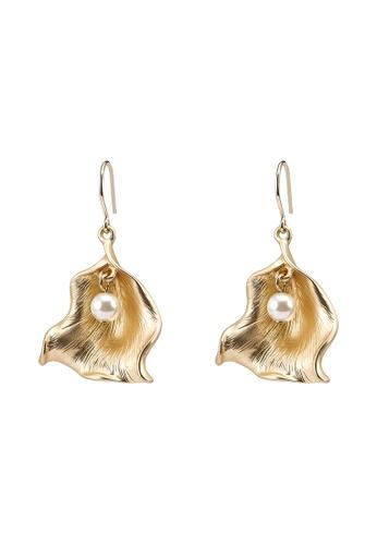 niko and ... yellow Pearl Earrings 0D48FAC260E7D9GS_1