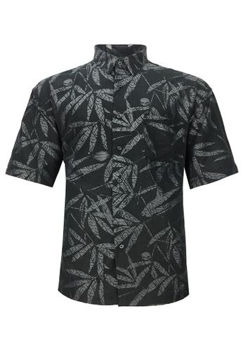 Pacolino black Pacolino - (Regular) Plain Formal Casual Short Sleeve Men Shirt - 11619-E0003-A 23D82AA64AB51FGS_1