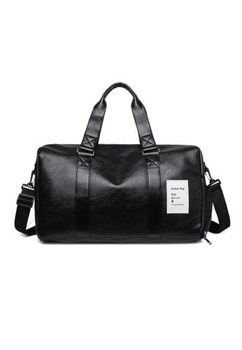 Lara black Men's Business Briefcase Travel Bag - Black 7D524AC799ECD0GS_1