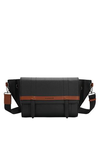 Playboy black Faux Leather Messenger Bag 8F3A5AC9063C45GS_1