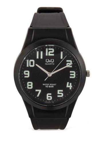 VQ50J004Y 數esprit home 台灣字顯示橡膠手錶, 錶類, 飾品配件