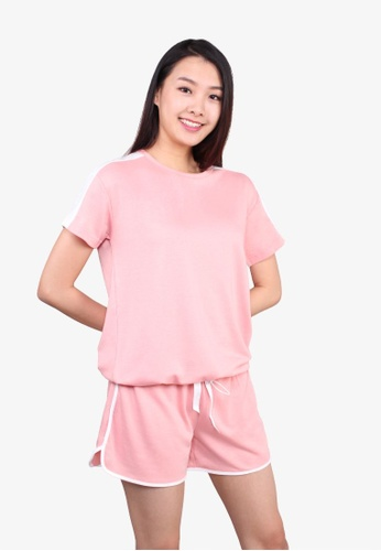 Applemints pink Tapping Sleeve Ribbon Set Wear - PEACH FEFC8AAD85D794GS_1