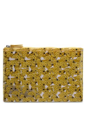 Mango yellow Printed Vinyl Cosmetic Bag 258FBACAE4E2BDGS_1