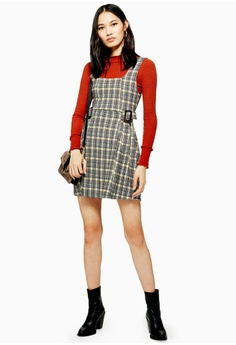 6ba700b4387 56% OFF TOPSHOP Petite Check Buckle Pinafore S  79.90 NOW S  34.90 Sizes 6