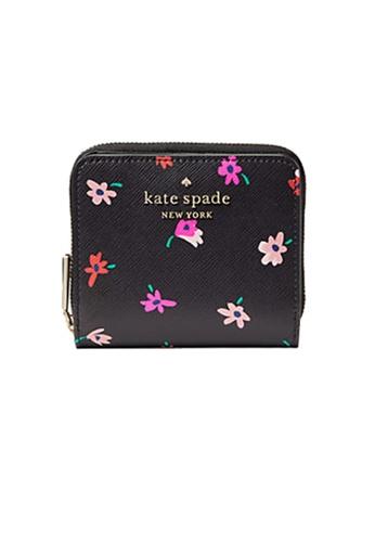 Kate Spade black and multi Kate Spade Staci Small Zip Around Wallet wlr00609 Black Multi 622D5ACA35114BGS_1