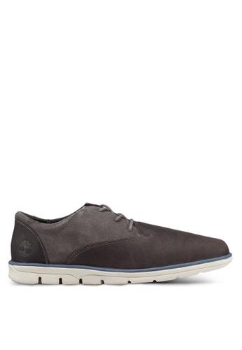 Timberland grey Bradstreet Oxford Ortholite Shoes 1FD06SHC7688A5GS_1
