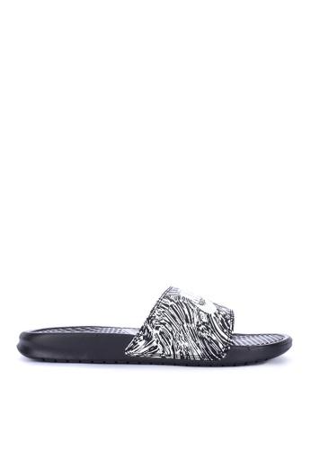 Nike black Benassi Jdi Print Shoes AF3E8SH472AF5EGS_1