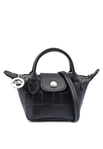 Longchamp black Le Pliage Cuir Croco Crossbody (zt) 6903CAC8965C23GS_1