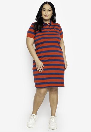 Le Tigre red Plus Size Shirt Dress BC72BAAE91873FGS_1