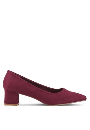 Nose red Pointed Pump Heels 2F06ASH7FB0D58GS_1