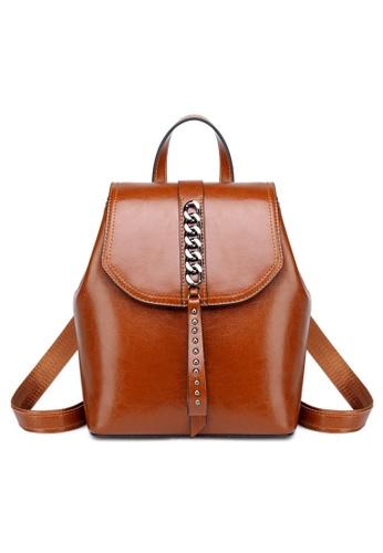 Twenty Eight Shoes Vintage Cow Leather Backpack A-1333 ED5A3AC058E44DGS_1