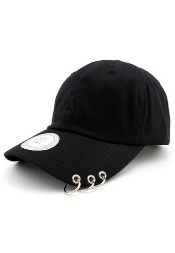 DOSSCAPS black FLIPPER 3 Rings Cap (Black) F2F84ACD42B46DGS_1