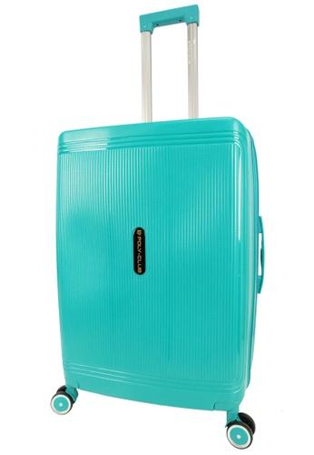 Poly-Club green Poly-Club 28inch Unbreakable PP Hard Case Trolley Travel Luggage with Anti-theft Zipper- BA9924 Green E6C28AC9B316DAGS_1