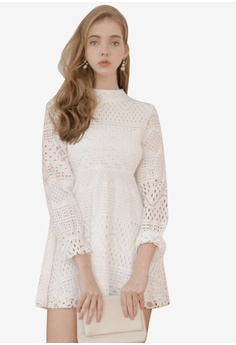 d575aaf7ab Eyescream white Long Sleeve Lace Dress D68C3AABBBC2B2GS 1