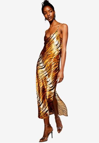 fcd85f013bbc Buy TOPSHOP Petite Tiger Satin Slip Dress Online on ZALORA Singapore